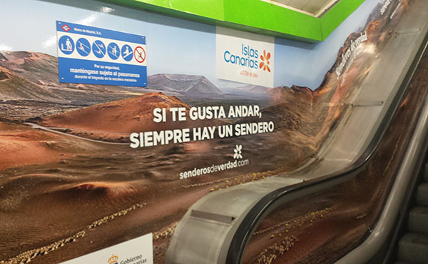 Ambient marketing en el metro de Madrid