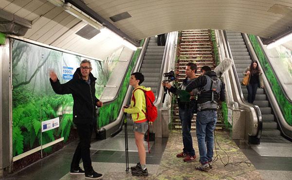 Ambient marketing en el metro de Madrid